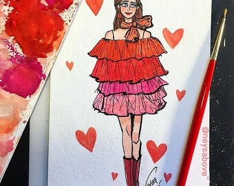 Runway hearts Original by Neysa Bové