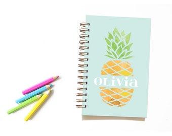 Pineapple Notebook for Kids. Kid Notebook. Pineapple Notebook. Pineapple Journal. Personalized Notebook. Back to School. School Supplies.