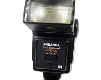 Vintage Miranda 700 CD Multi-Dedicated SLR Camera Electronic Tilt Zoom Flash