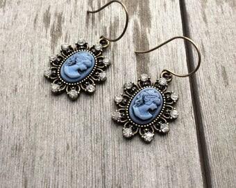 Cameo Earrings/Edwardian/Victorian