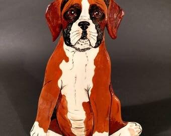 Vintage Original Boxer Puppy Vase by Nina Lyman