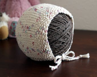 Knit Bonnet Pattern - Baby Knitting Pattern - Instant Download