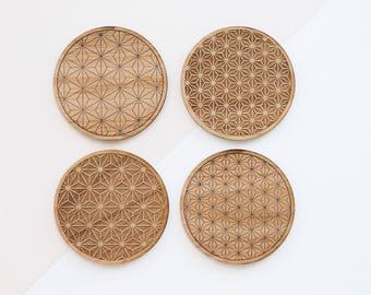 Starburst Pattern Coaster Set