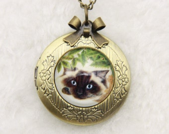 Necklace locket Persian cat 2020m