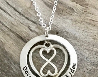 Heart Infinity Necklace| Heart Necklace| Infinity Necklace| Heart| Infinity| Infinity Jewelry| Heart Charm Necklace| Heart Jewelry| Sterling
