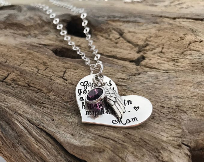 God Has You In His Arms | Remembrance Necklace | Personalized | Hand Stamped | Handmade | Sympathy Gift | In Memory Of | Memorial Keepsake