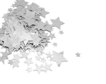 Silver Confetti, Silver Star Confetti, Star Confetti, Confetti Stars, Small Confetti, Paper Confetti, Small Stars, Table Confetti