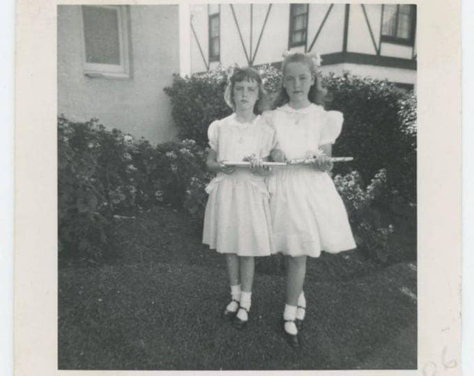 Vintage Photo Snapshot: Going to a Birthday Party, May 1948 (76587)