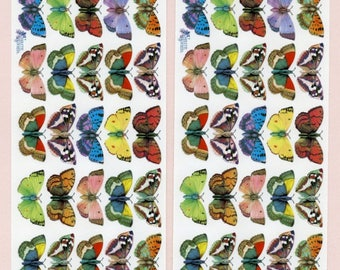 BUTTERFLY STICKERS, Butterflies, Nature Stickers, Butterflies Stickers, Violette Stickers, insect Stickers, Colorful Butterflies,