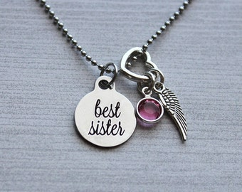 Best Sister Memorial Necklace, Sister Memorial, Sister Memorial Gifts, Sister Sympathy Jewelry, Sister Remembrance Jewelry, Sister Loss