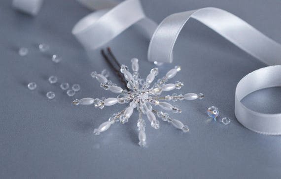 Crystal Snowflake Hair Pin