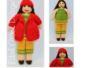 Rag Doll Pattern, Toy Knitting Pattern, Doll Knitting Pattern, Rag Doll Dress, Knit Doll, Autumn, Knit Toy, Amigurumi, Yarn Doll,