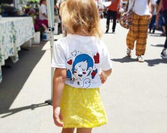 CLEARANCE - Three Eyed Baby or Toddler / Children's t-shirt or onesie, unisex heavy duty cotton 2T - Youth Medium. Cool kid, weirdo.