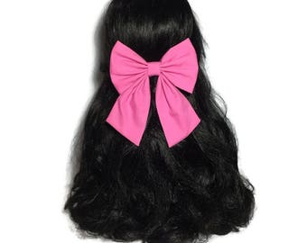 Bubble Gum Hair Bows For Women, Bows For Girls, Kawaii Hair Bow, Pink Hair Bow Clip, Pink bow Clip, Tail Down Hair Bow,  Bows,  LwT028