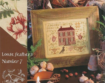 KIT - Tulip Manor by Blackbird Designs - Loose Feathers Club #7 - OOP Kitted Cross Stitch Pattern