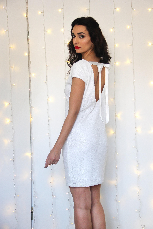 White Sequin Wedding Dress