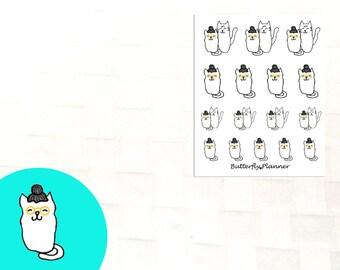 Granny Tiggero , Set of 16 Planner Stickers, Grandma Visit