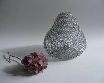 Pear shaped wire vessel-Decorative vase-Handmade homeware