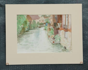 "Original watercolour painting ""Summer afternoon in Oxford"""
