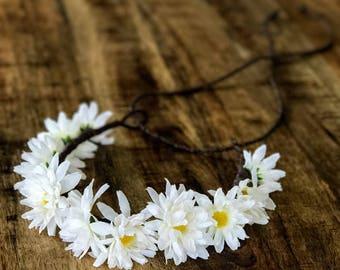The Sunny - Daisy Floral Crown Head Wreath Halo