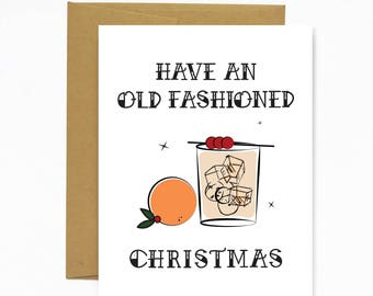 Old Fashioned Christmas - holiday card
