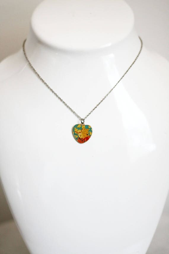 1980s Winnie the Pooh necklace // 1980s Disney necklace // vintage jewlery
