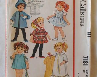1963 McCalls pattern 7181 CHATTY CATHY DOLL wardrobe uncut