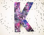 Galaxy Handpainted Alphabet Letters | Galaxy | Multicolored | Perfect for Room Decor and Themed Parties
