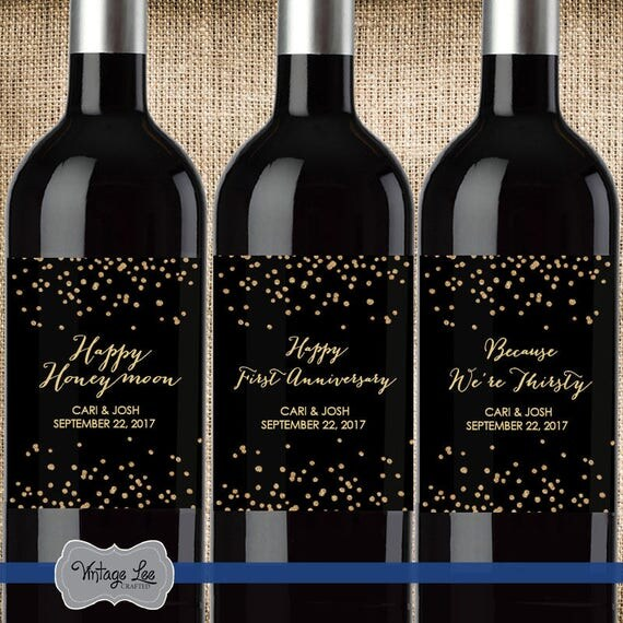 Wedding Milestone Wine Labels A Year Of Firsts Wine: Wedding Milestone Wine Labels Milestone Wine Labels Year Of