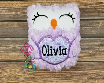 Personalized Stuffed Owl Animal - Baby Gift - Personalized Owl -  Owl with Name - Soft Owl - Plush Owl - Purple Owl - Stuffie - Baby Shower