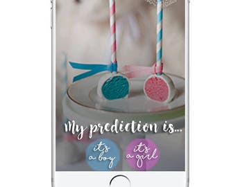 Gender Reveal Geofilter, Snapchat Geofilter Gender Reveal, Gender Reveal Party, Gender Reveal Party Game, Guess the Sex Snapchat Filter