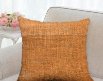 Rustic Orange Pillow