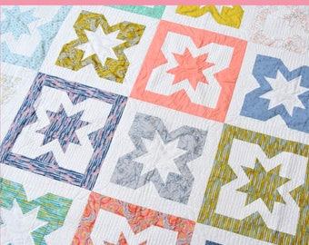 Geode Fat Quarter Quilt Pattern in 4 Sizes