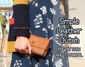 Simple Leather Clutch PDF Pattern & Tutorial