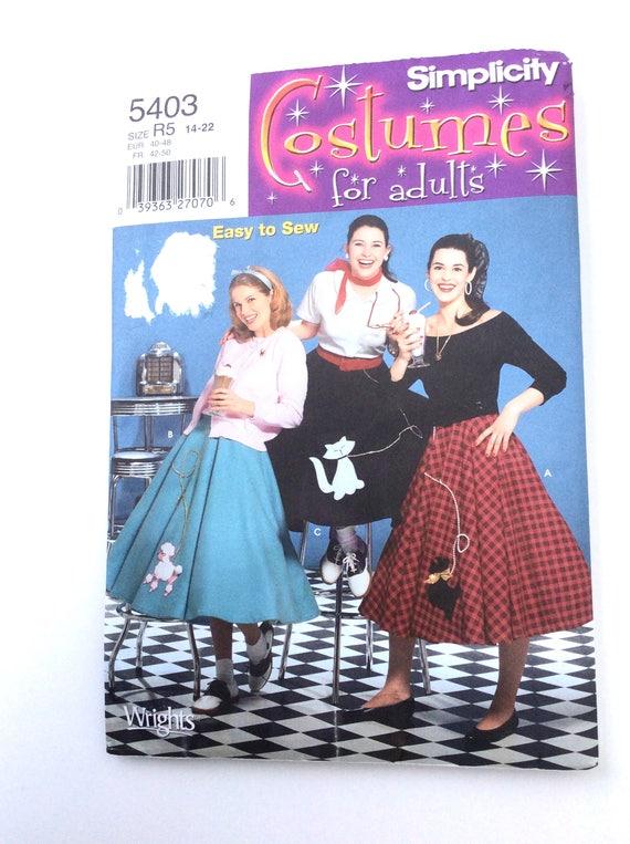 1950 dress patterns plus size poodle skirt