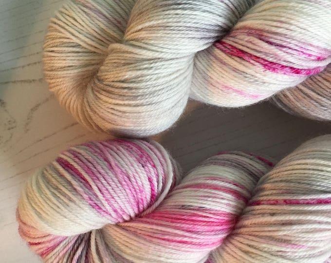 Steely blush - 100grams 100% Super wash merino  4 ply wool