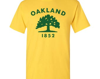 Oakland City Flag T Shirt - Daisy Yellow