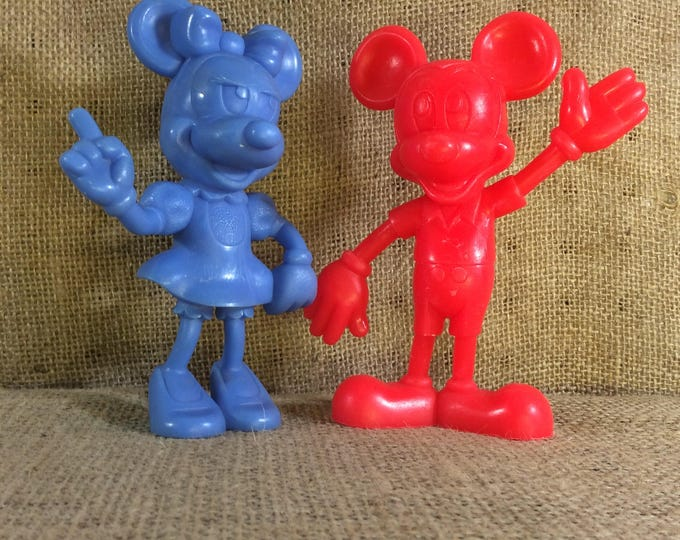 Super cool Mickey and Minnie, vintage Louis Marx from 1971 Mickey and Minnie Mouse, collectible Walt Disneys Mickey & Minnie Mouse