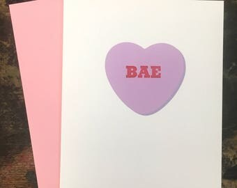 BAE Letterpress Valentine's Day Card