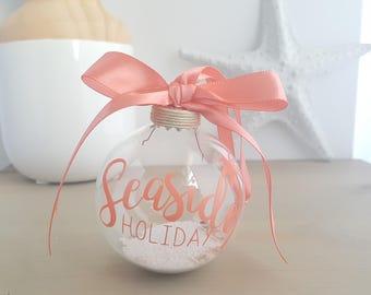 Beach Christmas Ornament, Nautical Christmas, seaside holiday