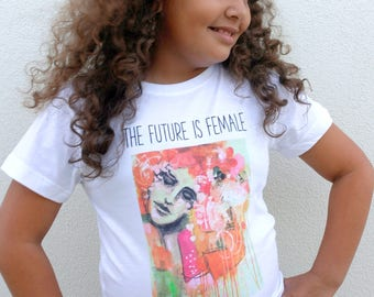 The Future is Female T-shirt for Girls
