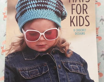 Hats for Kids, Leisure Arts, 8 Crochet Designs, Crochet Patterns, Crochet Baby Hat Patterns, Children Crochet Hat Patterns, Pattern Book