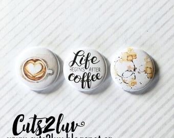 "3 Badges 1"" Coffee"
