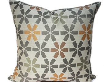 Maharam Snap Peninsula pillow cover, star pattern pillow cover, mid-century modern pillow cover, Gray yellow Beige pillow cover