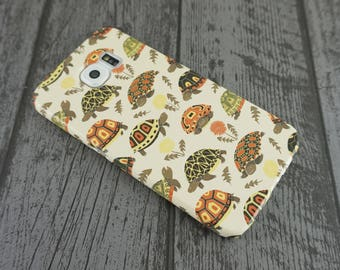 Tubby Tortoises Cute Grumpy Tortoise Animal Patterned Samsung Galaxy S6 Case
