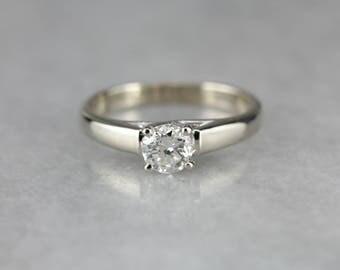 European Cut Diamond Solitaire, Engagement Ring, Round Diamond Ring 9CVWZKZL-P