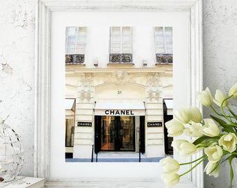 chanel paris store a fashion watercolor fine art print coco chanel chanel home