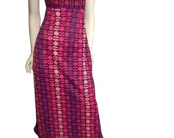 Vintage 60's-70's Psychedelic Maxi Dress