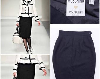 MOSCHINO COUTURE Women's Black Pencil Skirt