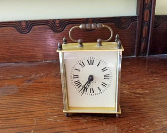 Vintage 1980s Clock / Linden Mantel Clock Fireplace Clock/ 80s Quartz Clock